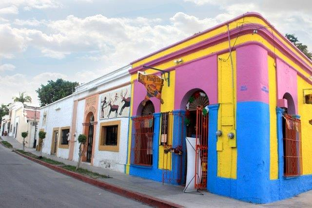 The colorful street of San Jose Del Cabo, Mexico.