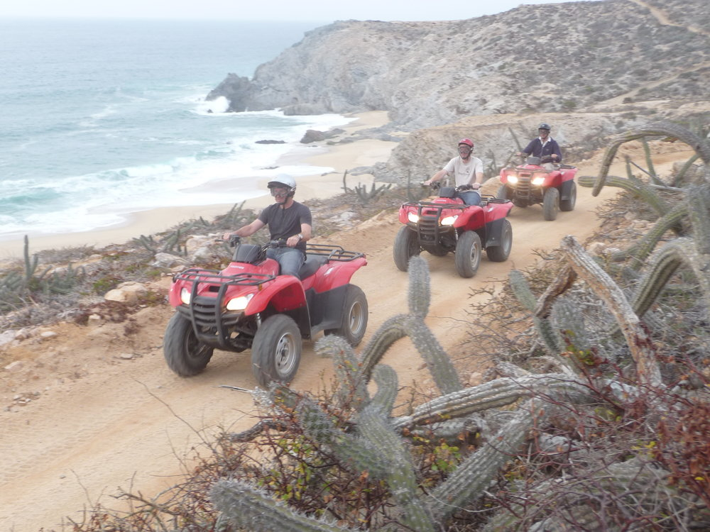 ATV Tour Off road ATV excursion over the ocean sea cliffs, desert trails and canyon trails.