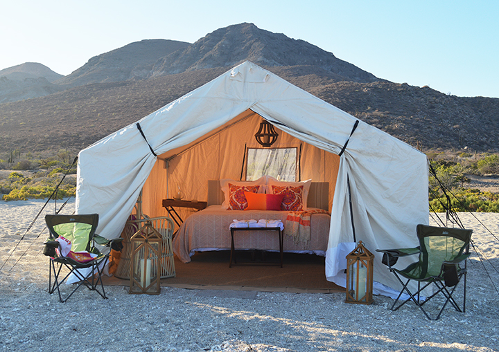 Glamping - Camp Cecil Luxury camping on one of the most beautiful beaches in Baja - Isla Espiritu Santo