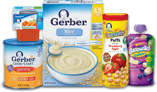 Baby Package: $93. Lg package of Huggies, baby wipes, Enfagrow milk, assorted Gerber juicies & assorted Gerber jar foods.
