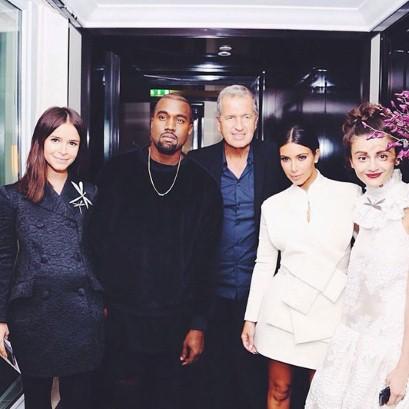 Mira Duma in A.W.A.K.E., Kanye West, Mario Testino, Kim Kardashian in A.W.A.K.E. and Natalia Alaverdian.