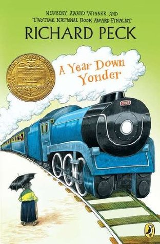 Peck, Richard. A Year Down Yonder (A Long Way from Chicago #2). Dial, 2000. 130 pp. Grades 6-8.