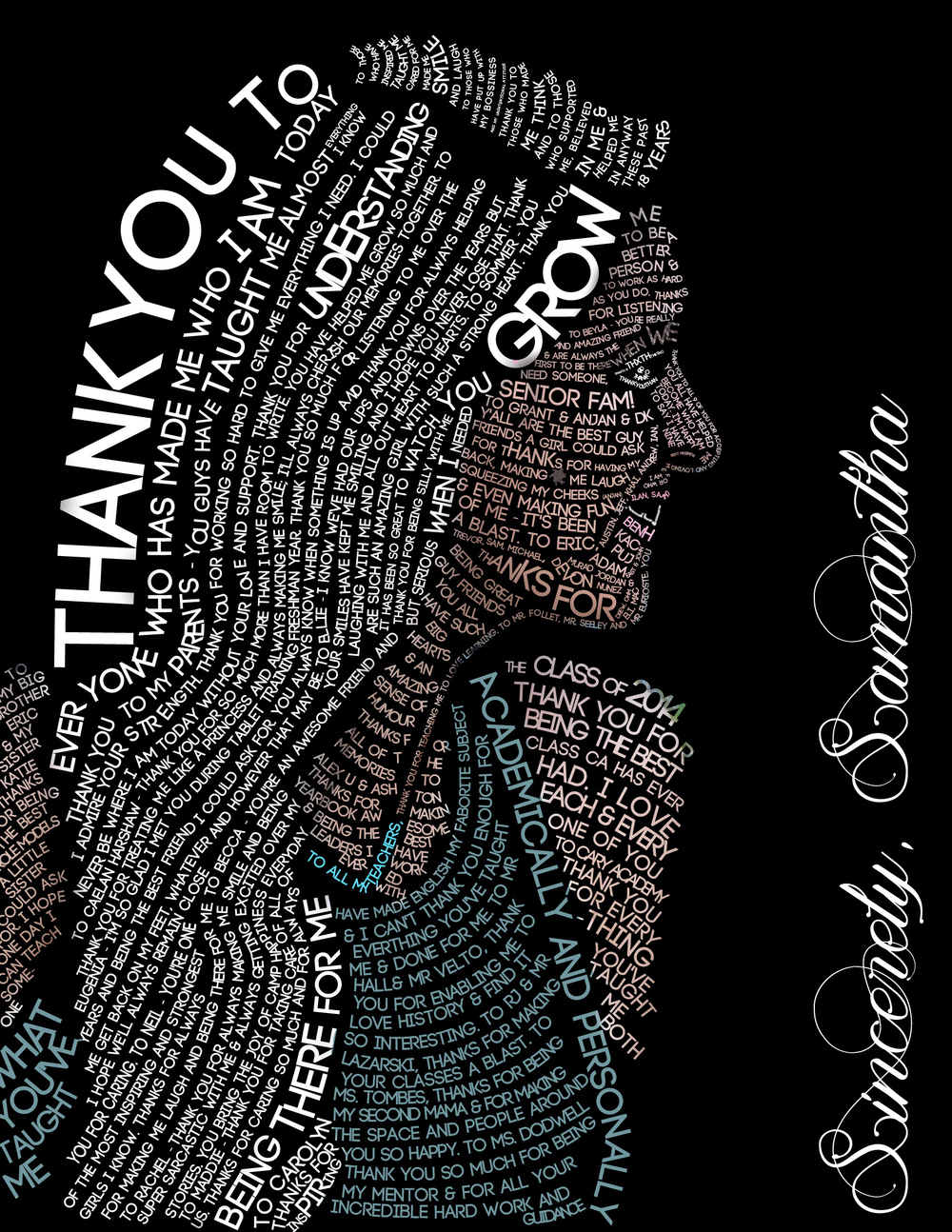 Thank You Letter Self-Portrait 2014