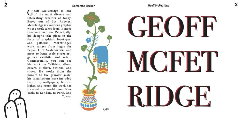 Geoff McFetridge Book Spread