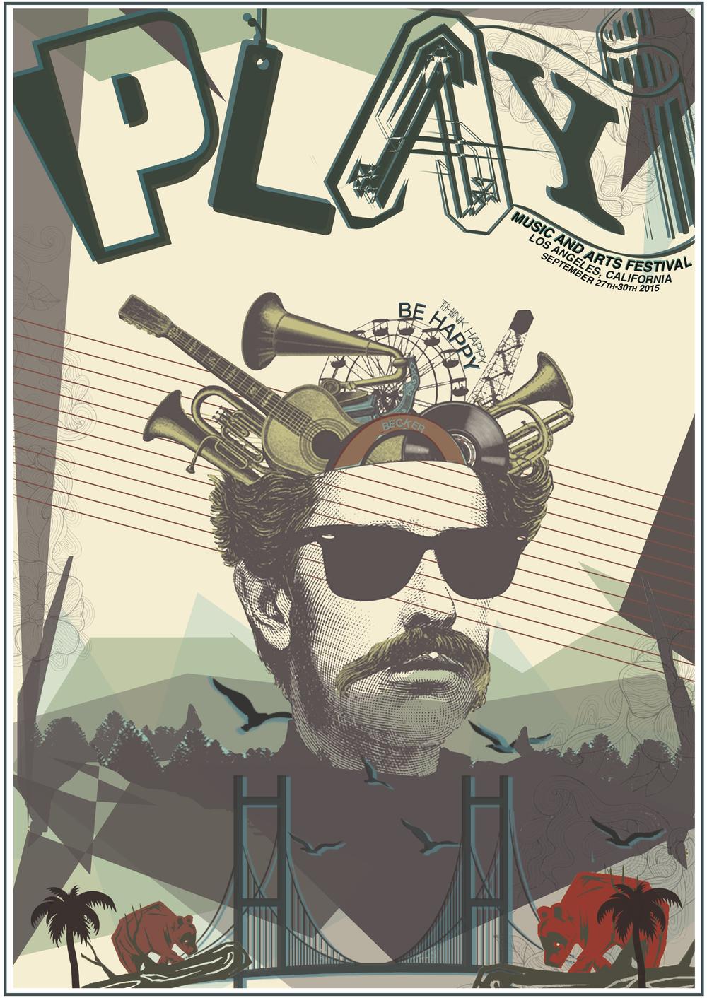 Portfolio Piece, 20 Things Play Music Festival Poster