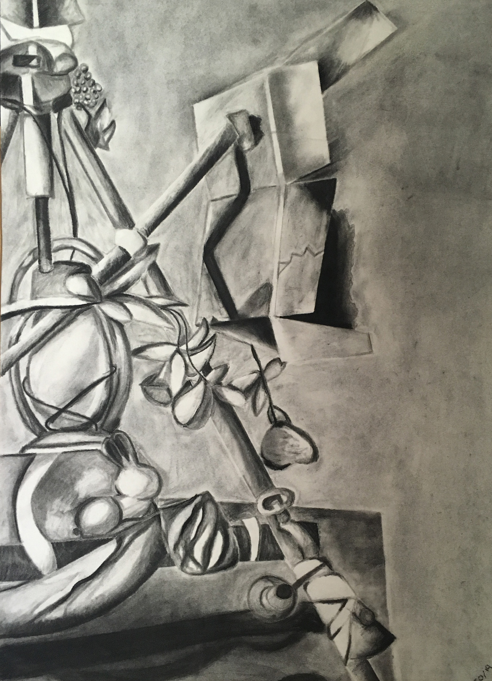 Still Life, Charcoal, 17in x 11in