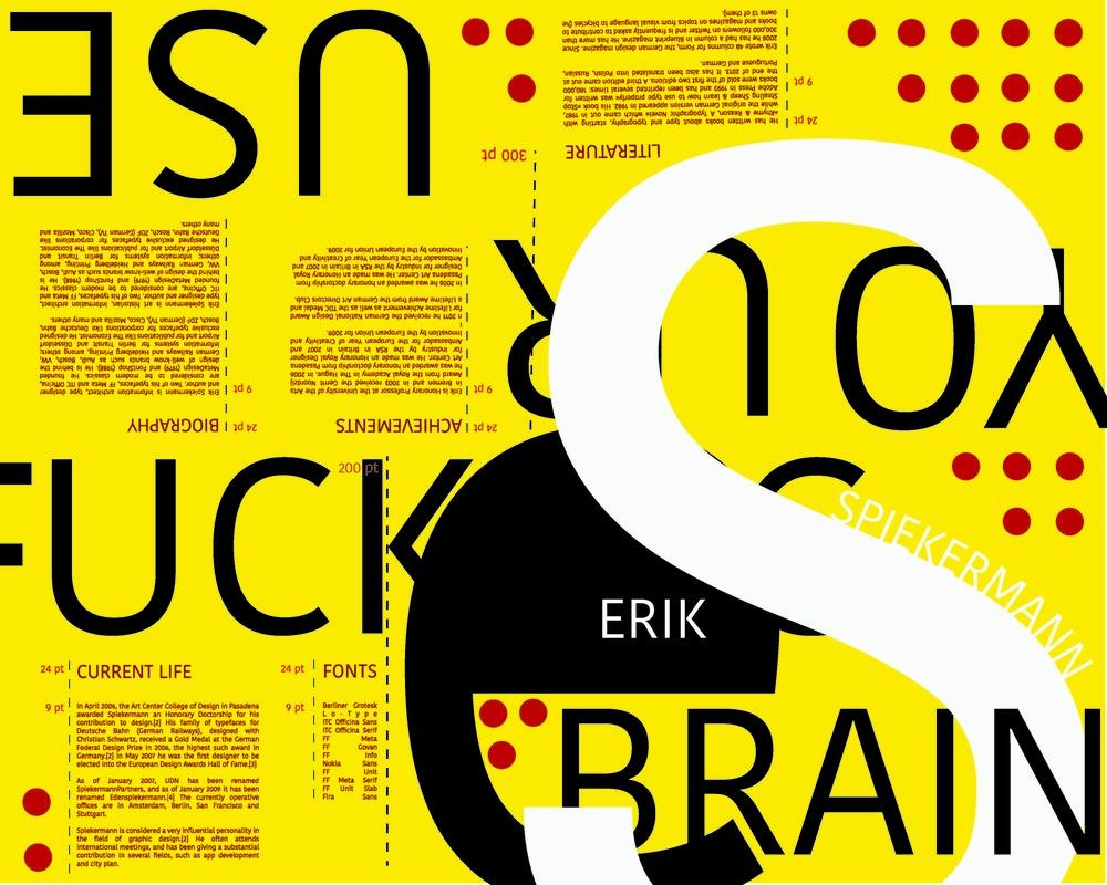 Portfolio Piece, Erik Spiekermann Folded Book and Poster