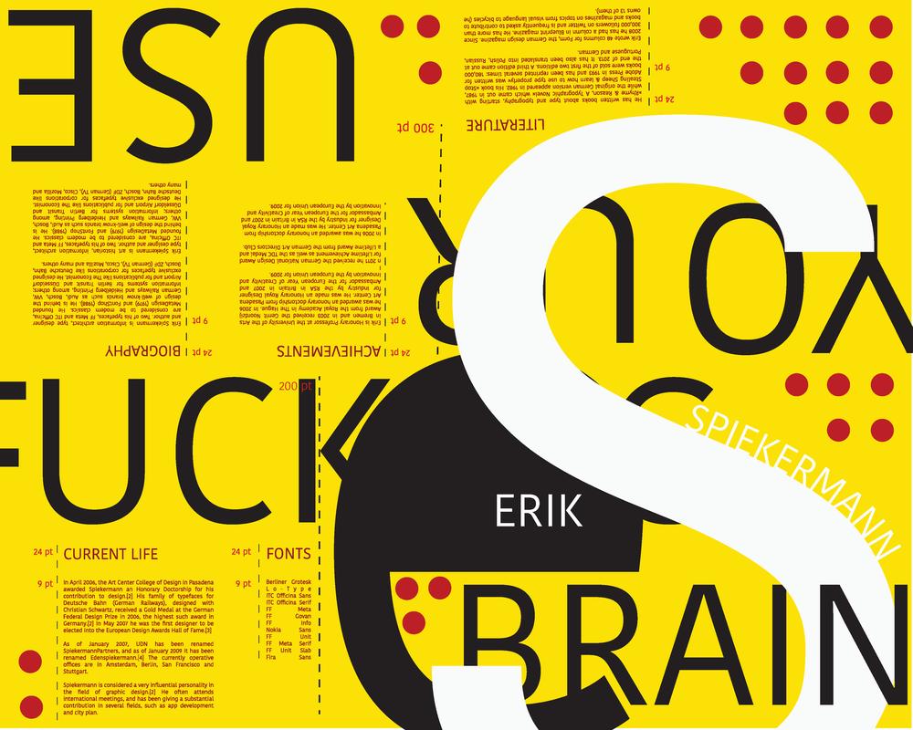 Erik Spiekermann Foldable Book and Poster