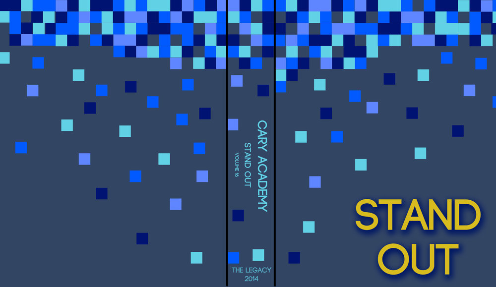 """High School Yearbook Cover Design with Gold Foil and Embossment of """"Stand Out"""""""
