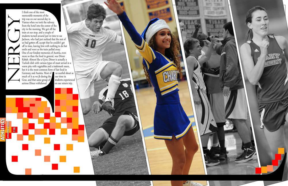 """Example Divider Spread for """"Stand Out"""" Themed Yearbook"""