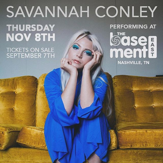 Can't wait to play @thebasementeast Nov. 8th w/ @savannah.conley grab your tickets soon!