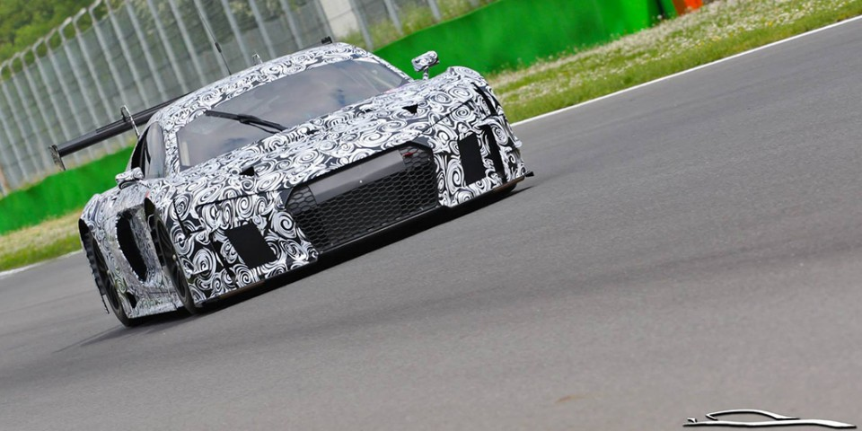 artoftheautomobile :     The next-gen R8 LMS caught testing.    via   Fourtitude