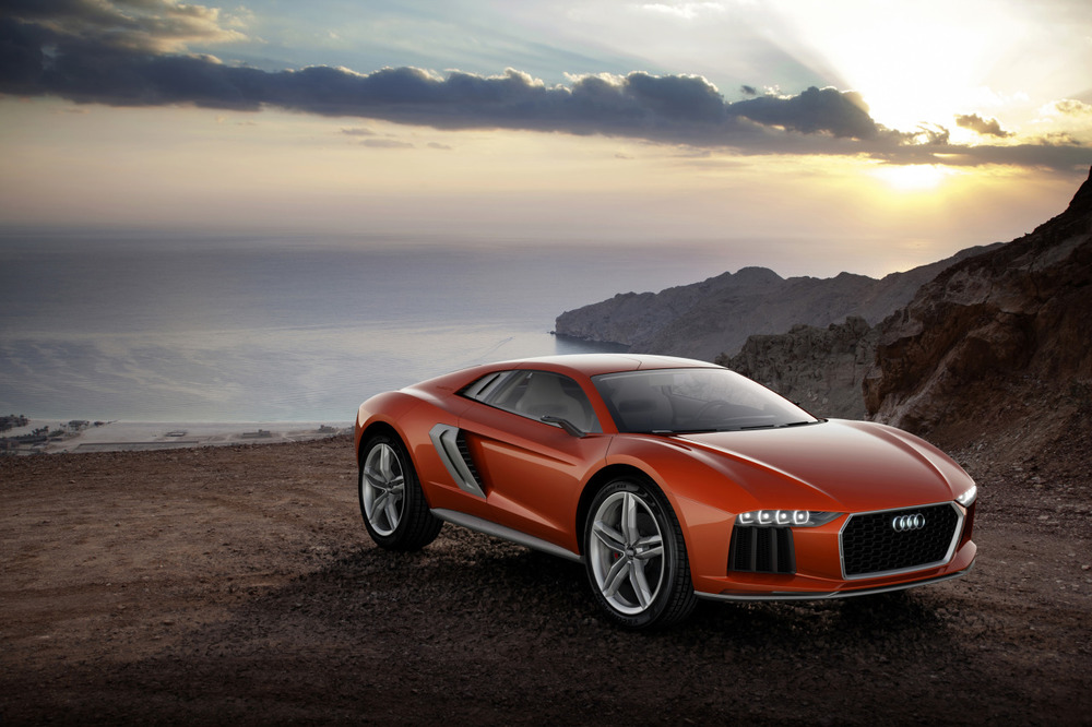 Audi nanuk quattro concept I've got a thing for high-riding coupes, even if it is just a lifted R8 with a diesel  V10.