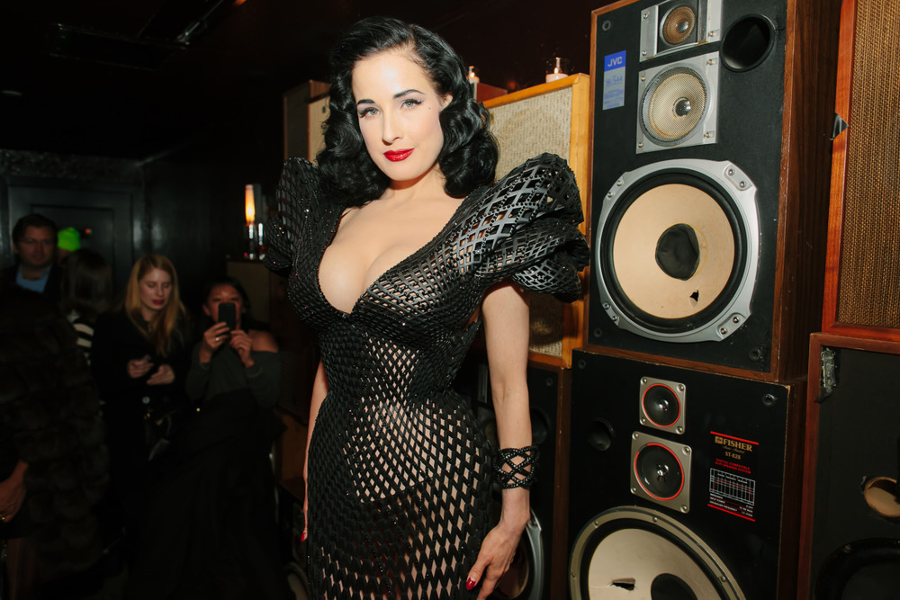 Dita Von Teese + 3D-printed dress. My week is complete.