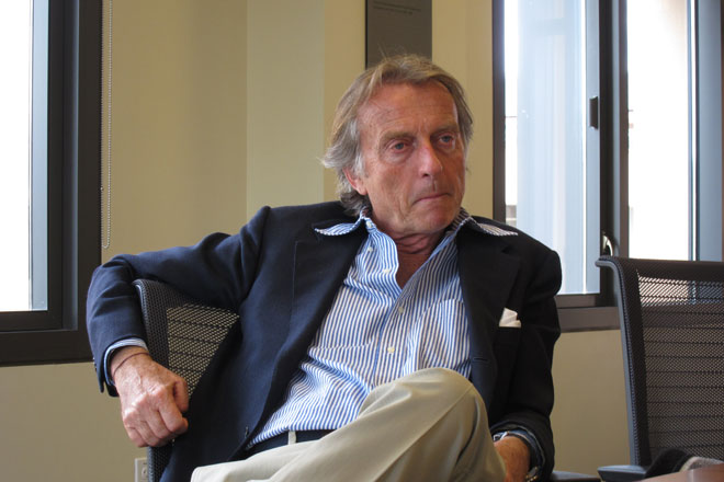 So  I sat down with Luca di Montezemolo yesterday . It was me, a writer from Forza, a mommy blogger and a Stanford freshman writing for the student newspaper for the first time. Needless to say, it was… odd, but enlightening.