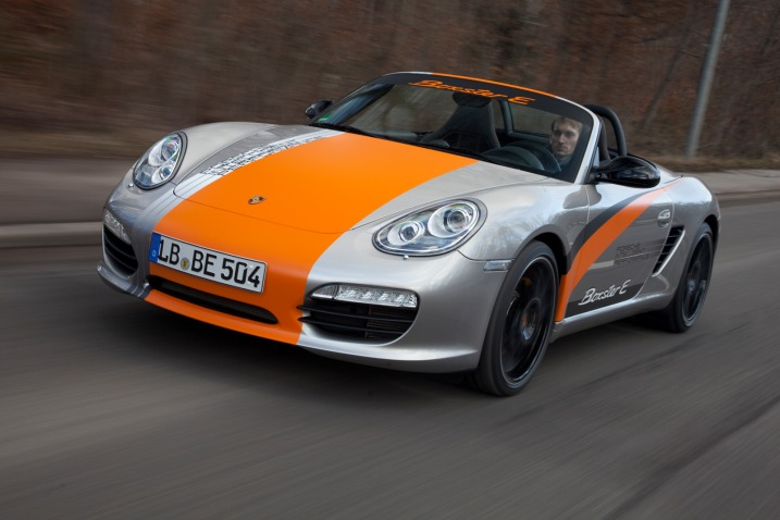 Speaks volumes: According to Porsche, the midengine roadster provides the best packaging solution of any of its existing sports car models. It allows the battery to sit low in a mid-mounted position to get the center of gravity down. The Boxster's low curb weight was also a decisive factor in giving it the nod over the 911. First Drive: Porsche Boxster E