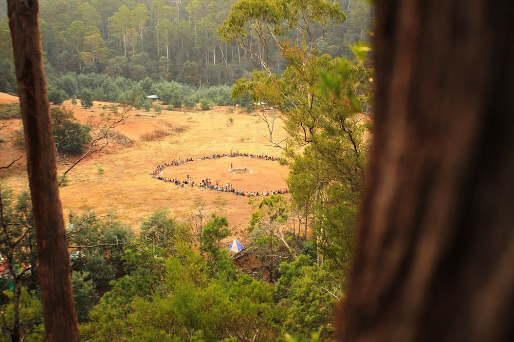 International Rainbow Family gathering at The Valley from December 2015 to February 2016. Photo by David Willison