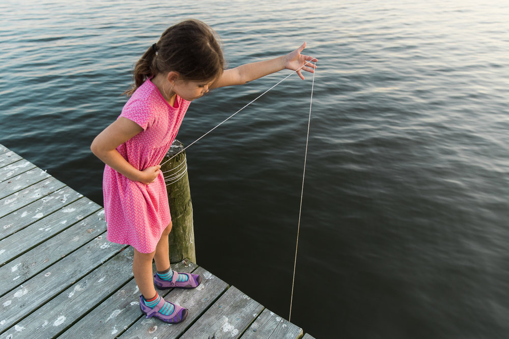Pulling up the trot line, crabbing in Rock Hall, Maryland