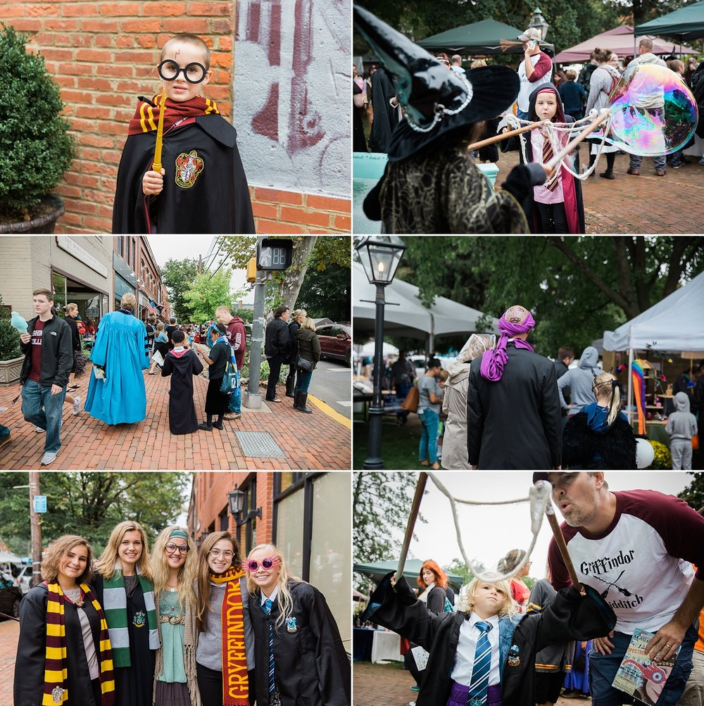 Wizards and witches at the Harry Potter Festival in Chestertown, Maryland