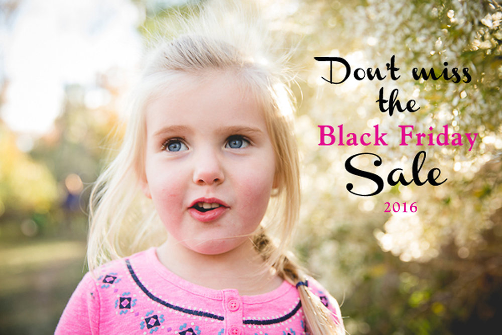 Black Friday Sale on Family Photography Sessions in Maryland