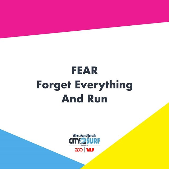 It's finally here! Raceday is today!! 🎉 Here's one last piece of motivation for all our #City2Surf runners. Good luck!!
