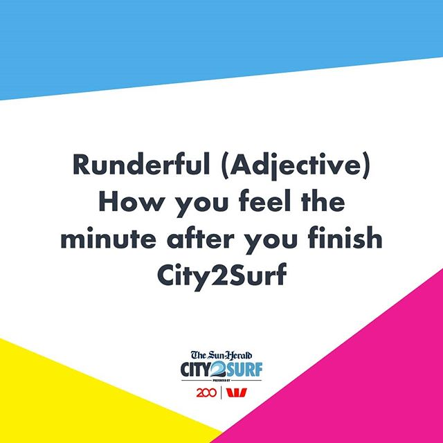 Trust us, it's a very real feeling! #City2Surf #Runderful