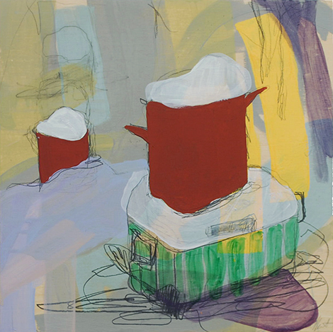 having a hard time (stump), 2015 acrylic and graphite on panel 12in x 12in private collection