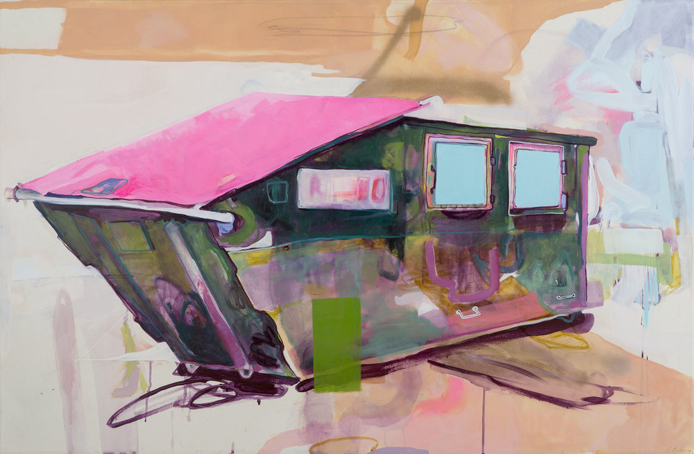 Dumpster, Aarhus, 2015 Acrylic and oil on canvas 39in x 59in private collection