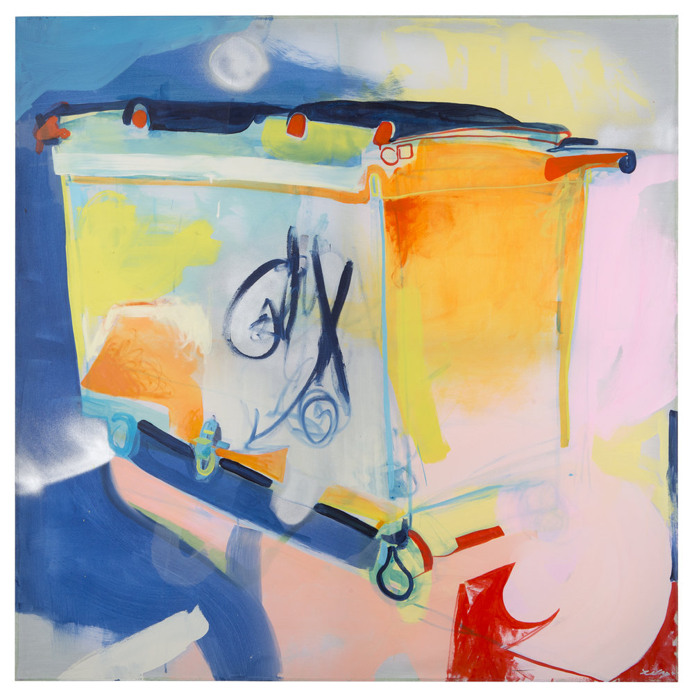 Dumpster: Lawrenceville, 2016  Acrylic and latex on muslin 60in x 60in private collection