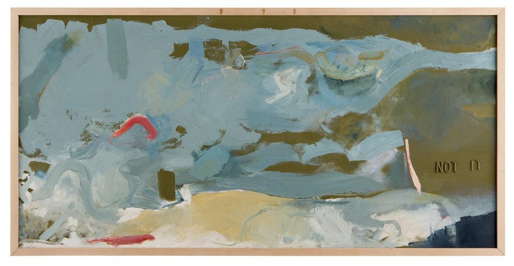 Not It,  2012 Oil on canvas 24in x 48in NFS