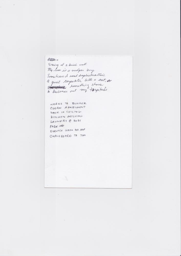 Poem/List, 2017 Scanned October 2018