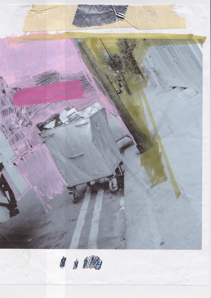 Dumpster in Wimbleton UK Printed 2014 Scanned 2017