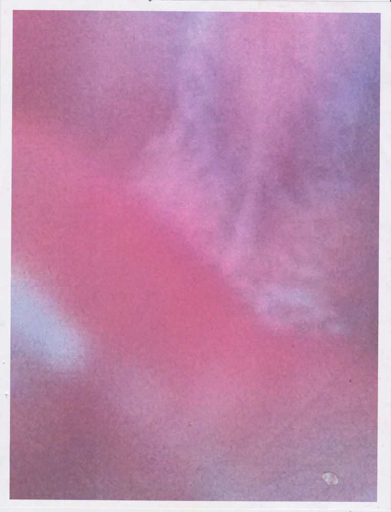 Roof of my mouth shot on an iphone 4 Printed early 2016 Scanned October 2018