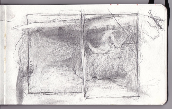 Sketch for a diptych, 2013