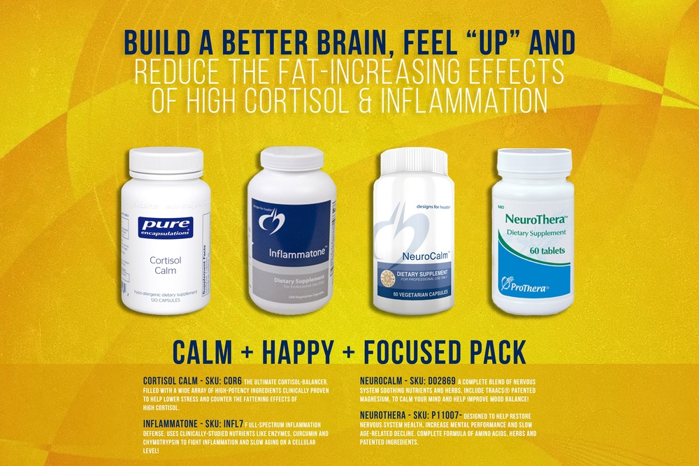 IMPROVE MOOD, LOWER CORTISOL /INFLAMMATION LEVELS AND BOOST BRAIN POWER