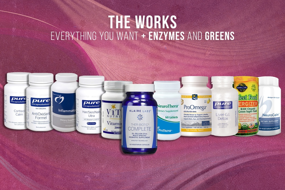 EVERYTHING FROM ALL PACKS *AT DISCOUNT* WITH ENZYMES & GREENS INCLUDED!