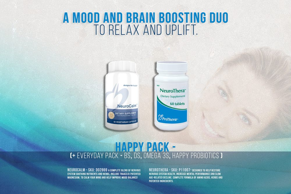 Brain & Mood Boosting herbs and aminos for all day feel good.