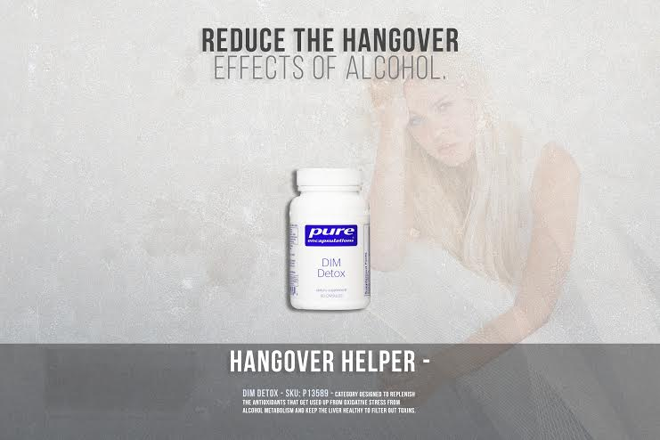 Reduce the hangover effects with this liver cleaning, nutrient support.
