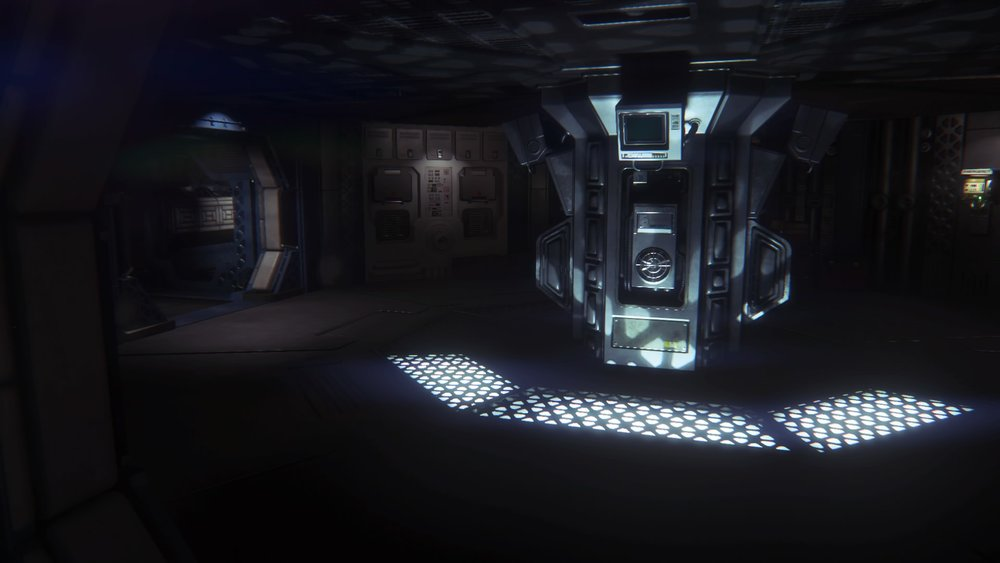 This screenshot shows the player hearing the Xenomorph in the walls, halls and vents.