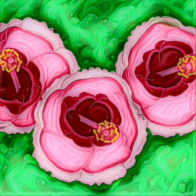 Pink Flowers digital illustration art insta draw artwork