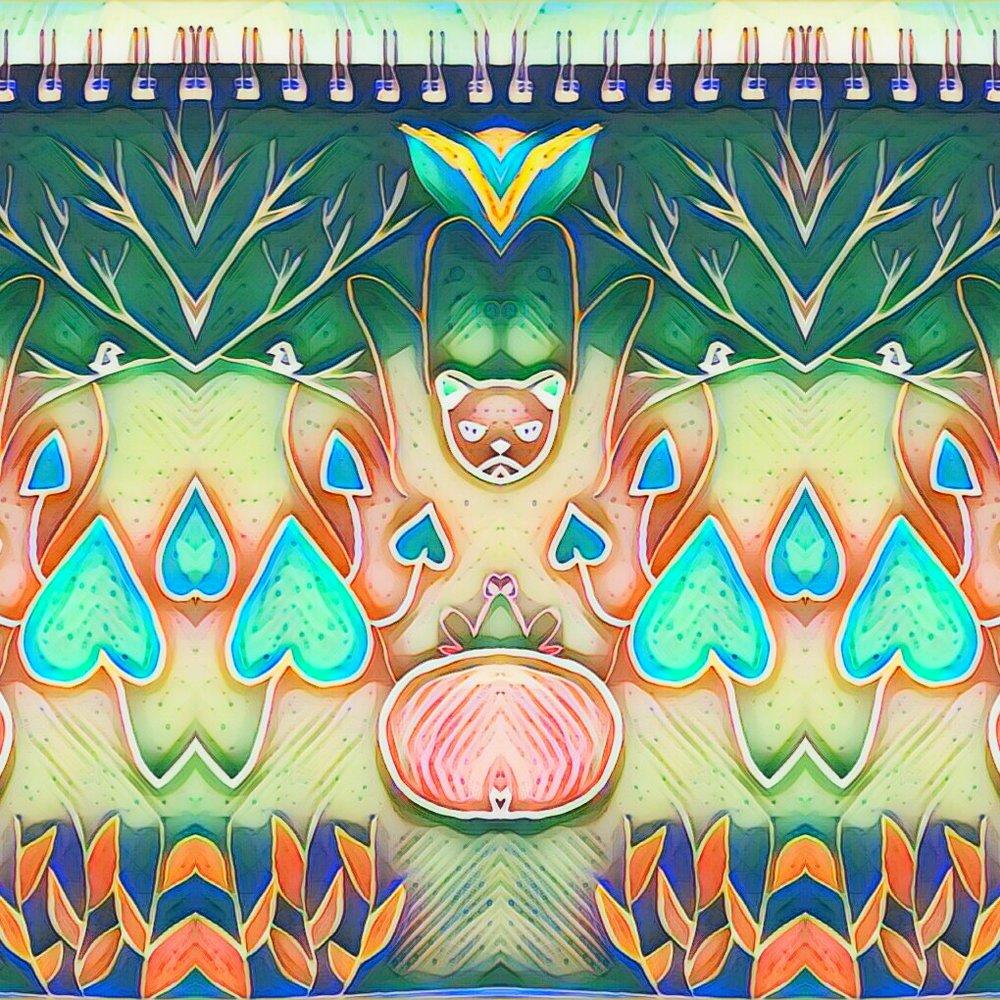 surreal psychedelic visionary art drawing