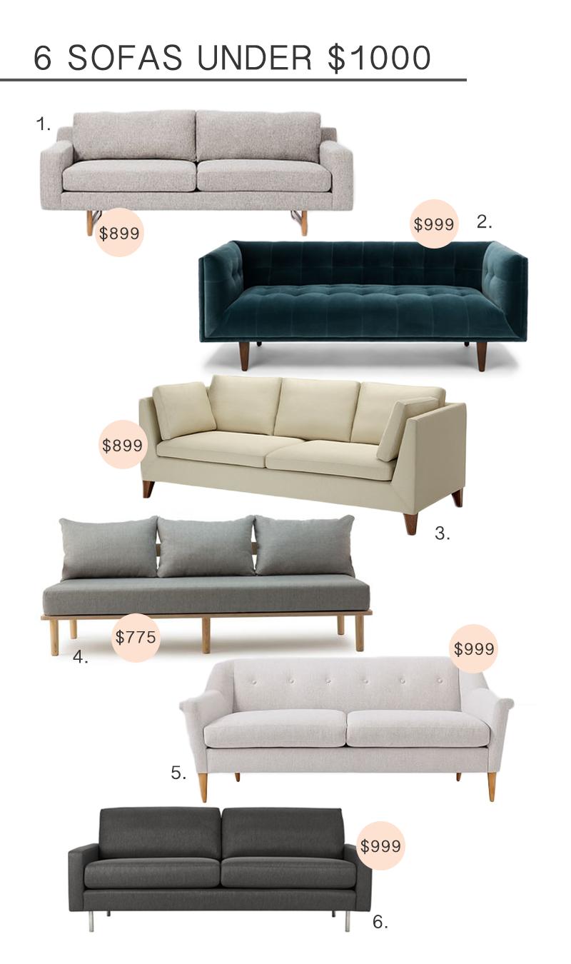 Stylish Sofas Under $1000 U2014 Fern