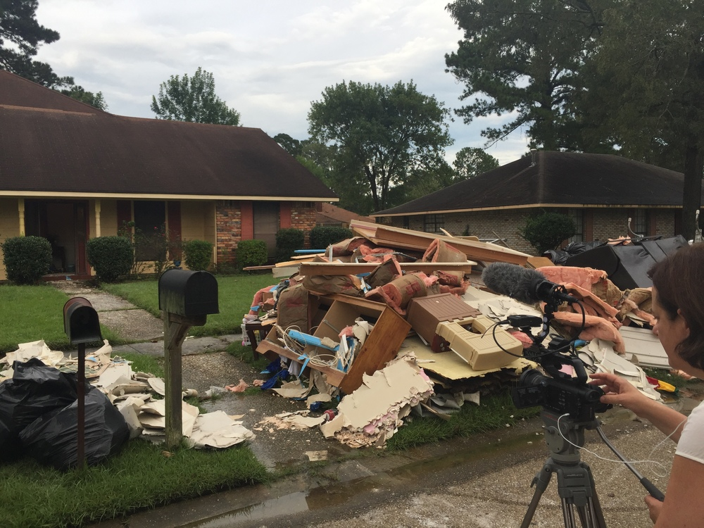 Tameka Roby's home was gutted after this month's flooding destroyed most – if not all – of her belongings. She is gracious and let us film there.
