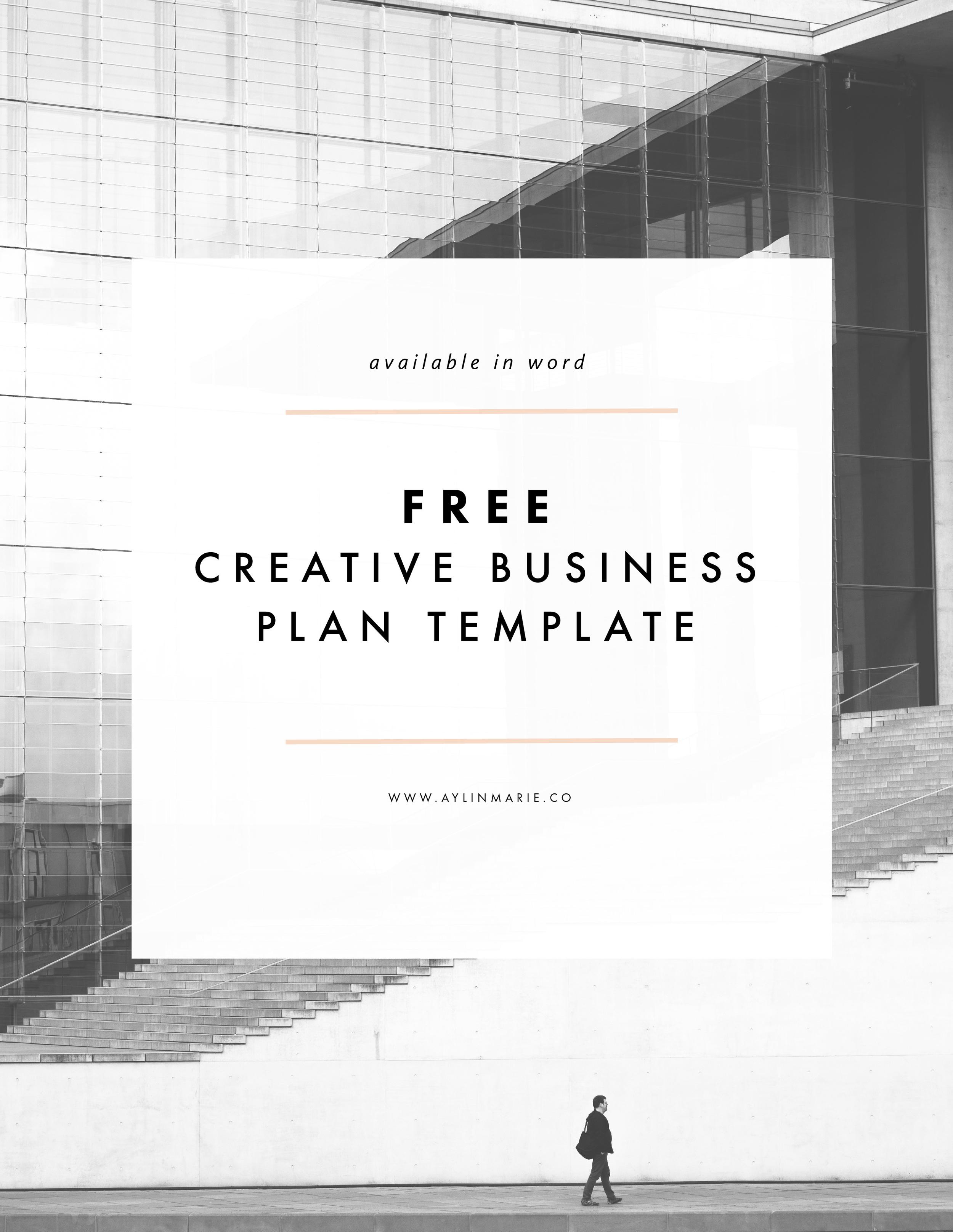 Freebie: Creative Business Plan Template