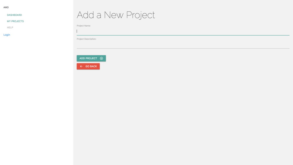 Add a New Project View
