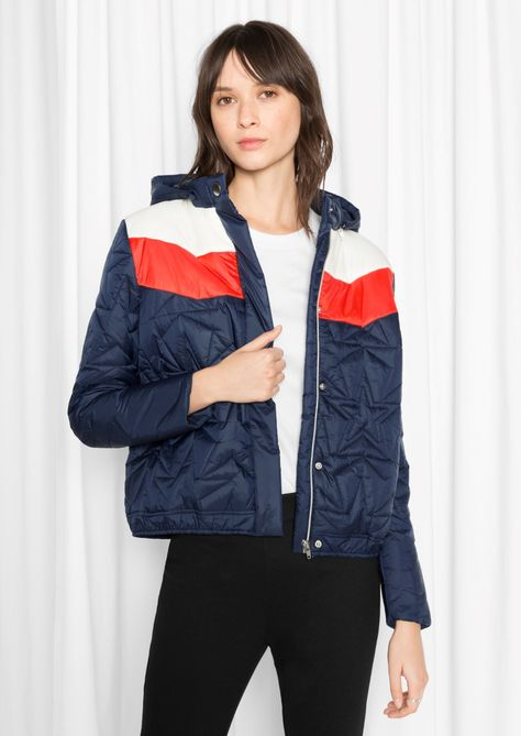 & Other Stories Quilted Hooded Jacket