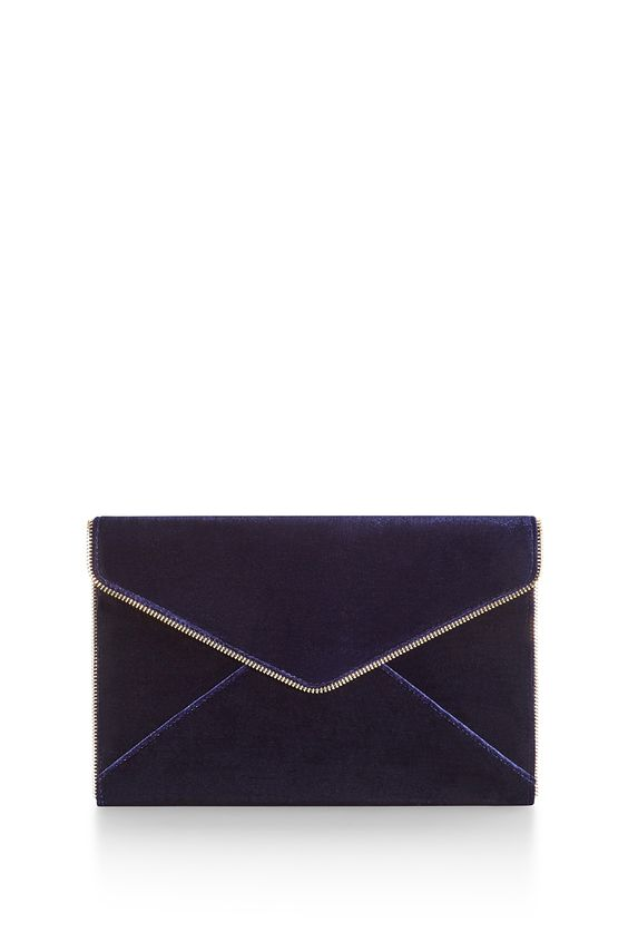 Add a little touch of velvet with Rebecca Minkoff's classic envelope clutch!