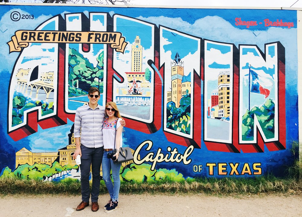 Greetings from Austin wall | 1720 S 1st {Kinda one of those things you just have to do...}