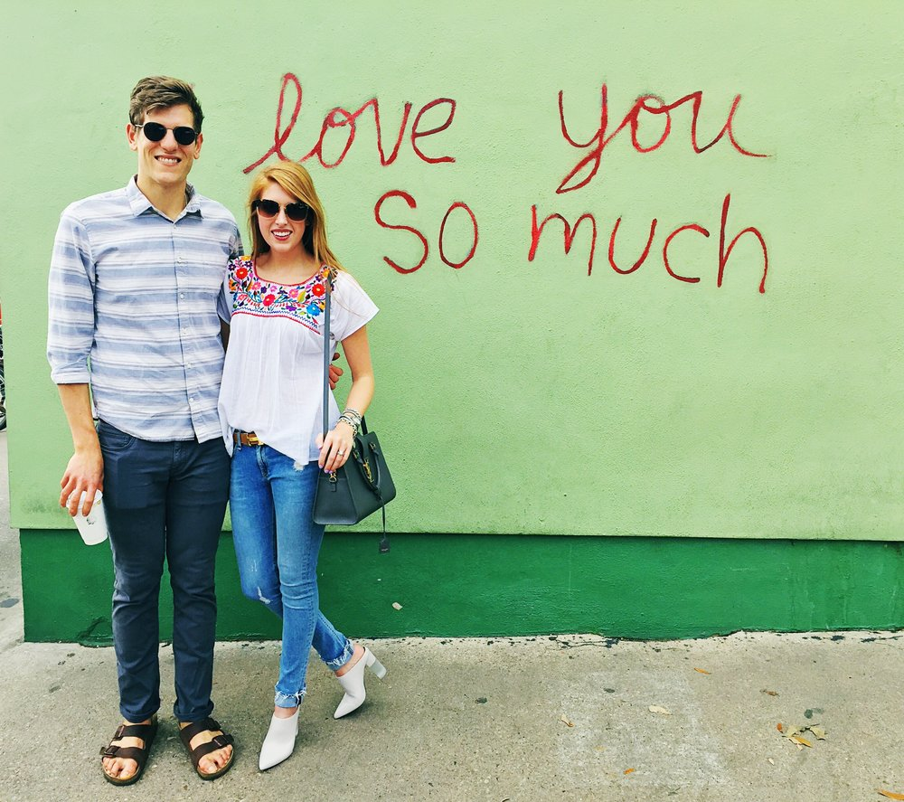 I love you so much wall | 1300 S Congress Ave {Clearly a must when in Austin, especially since it is right there on South Congress. We got lucky and there was no line, so timing is key}