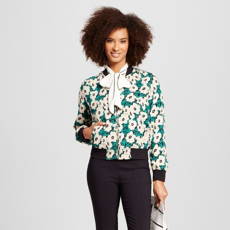 "I know I know ""Florals for spring, groundbreaking"" - Miranda Priestly, but this bomber jacket is so fun!"